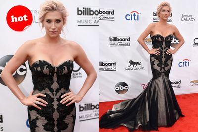 Hot! Kesha rocks Hollywood glam in this tulle number on the red carpet.