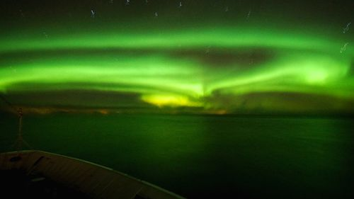 Late December, dark but beautiful at the Lofoten Islands, Norway. (9NEWS/Jessica Braithwaite)