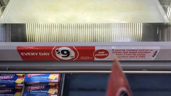 Coles sticker displays deal