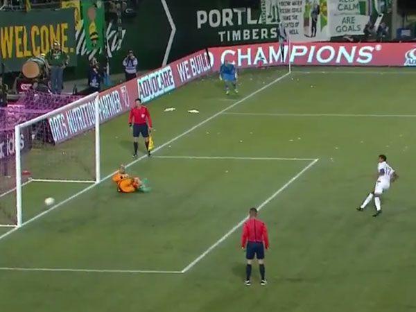 Footballer foiled by freakish penalty miss