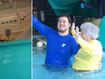 Gran, 93, faces her fear of water head on