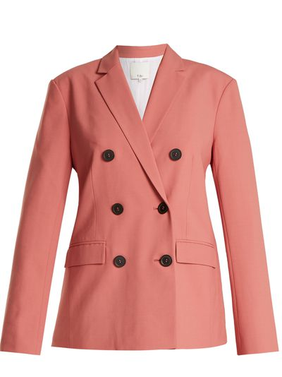 """Tibi double-breasted blazer, $932 at <a href=""""http://www.matchesfashion.com/au/products/Tibi-Double-breasted-twill-blazer-1161400"""" target=""""_blank"""">Matches<br /> </a>"""