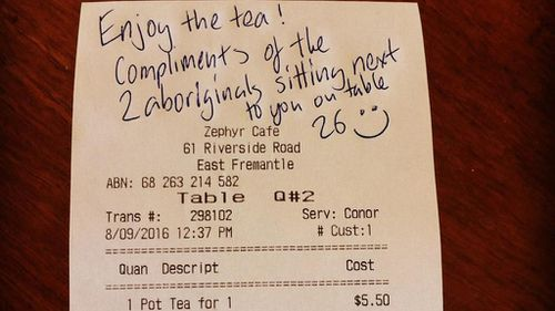 Perth man responds to women's racist remarks by buying them tea