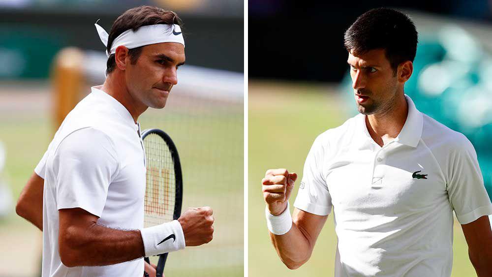 Roger Federer and Novak Djokovic. (AAP)
