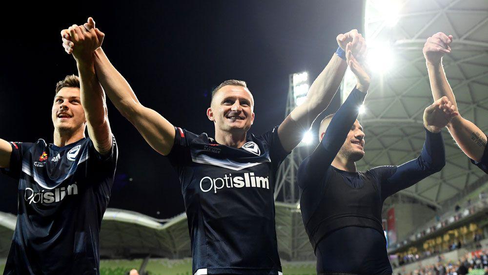 Besart Berisha scored his 100th A-League goal. (AAP)