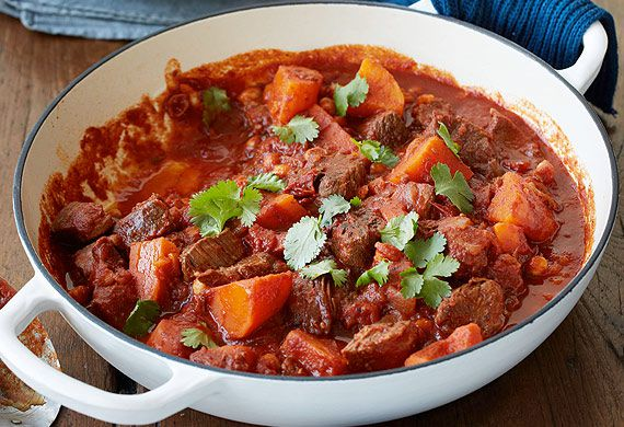 Em Rusciano's beef casserole with sweet potato and chickpeas