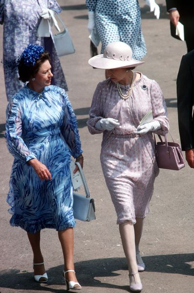 Princess Margaret and The Queen at Ascot Races, June 1979