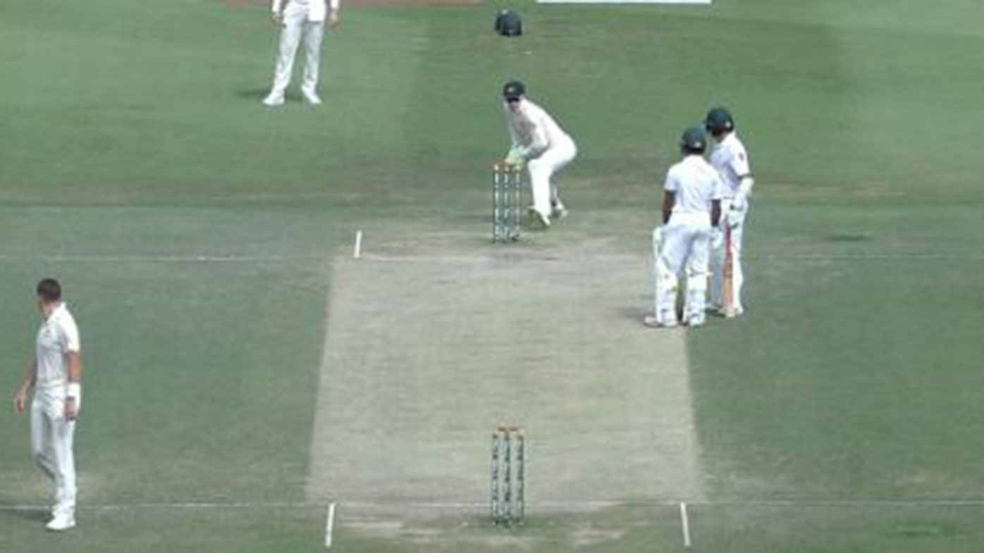 Azhar Ali is run out in comical fashion in the second Test