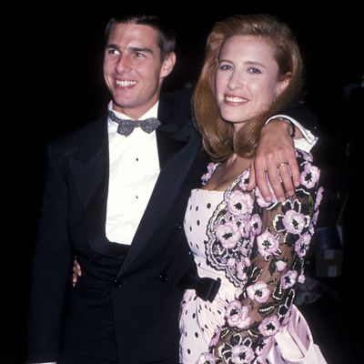 <p>Tom Cruise and Mimi Rogers</p>