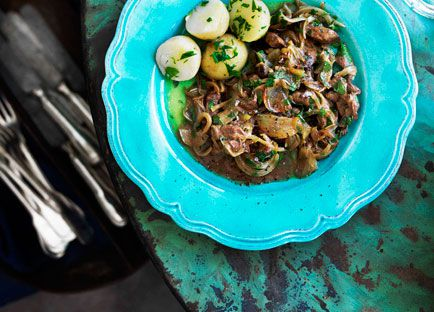 Venetian calf's liver and onions