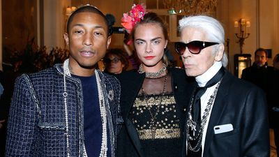 "The Chanel Pre-Fall show, also known in swankier circles as the Metiers d'Arts, was full of runway surprises but Happy singer Pharell raised the most smiles wearing a Chanel ¾ length jacket, a rope of pearls and what looked like the house's first yarmulke or kippa.<br /> The singer was almost upstaged by Cara Delevingne who opened the show, making her first return to the runway in a year. Cara also closed the show, which took place in the dining room of The Ritz in Paris, convincingly delivering a choreographed dance routine.<br /> The culture element continued with a performance by designer Karl Lagerfeld's current muse Willow Smith. The 16-year-old offspring of A-list actor Will Smith attended the event with her mother Jada Pinkett-Smith and sang her own piece November 9th about the US election.<br /> Also on the runway was <a href=""https://style.nine.com.au/2016/10/31/11/06/chanel-lily-rose-depp-new-scent-fragrance-ad-campaign"" target=""_blank"">Lily-Rose Depp</a>, daughter of Johnny Depp, who took to the improvised runway in a sequin crop top, followed by a black cocktail dress, watched by her mother Vanessa Paradis. <br /> Rounding out the stunt casting was Karl's godson Hudson Kroenig, son of veteran male model Brad Koenig, wearing a Chanel jacket that's perfect for the schoolyard. <br /> The show was called Paris Cosmopolite and celebrated the intricate work of Chanel's embroiderers, milliners, glove makers, jewellers and shoe makers.<br /> Signature embroidered tweeds, along with roses and Eiffel Towers stitched onto layers of black tulle highlighted the workmanship prized by Karl. The result was a Café Society atmosphere, punctuated pleasantly by wide-legged leather pants and cropped leather jackets.<br /> We're not sure whether the men's jackets will take off in the same way that vintage Vivienne Westwood hats following Pharell's support at the 2014 Grammy Awards but we're happy that pearl-encrusted Yarmulkes are here in time for Hanukah.  <br /> <br /> <br /> <br />"