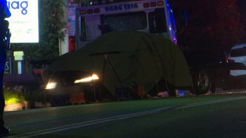 The teen's ute slammed into a parked truck. He died at the scene as a result of his injuries. (9NEWS)