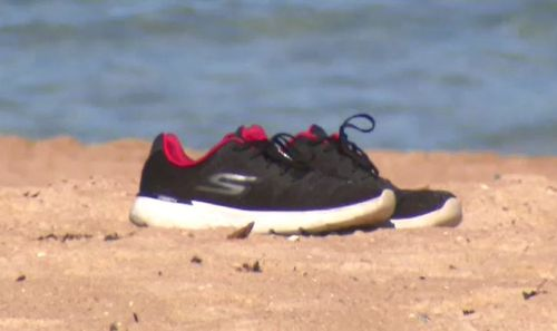 Shoes were found near the body.