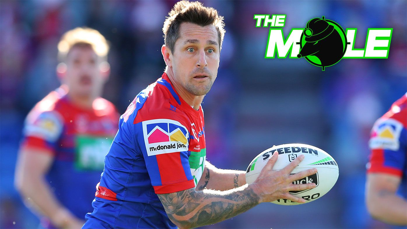 Newcastle Knights halfback Mitchell Pearce.