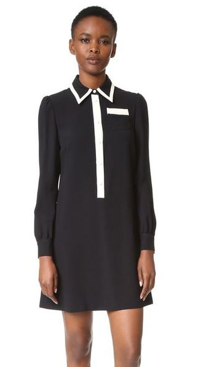 """Red Valentino collared dress, $902.46 from <a href=""""https://www.trenery.com.au/shop/womenswear/clothing/shirts/60199793/Short-Sleeve-Modal-Blouse.html"""" target=""""_blank"""">Shopbop</a><br />"""