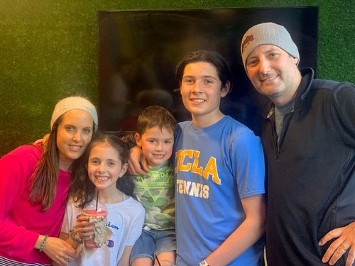 Julie and Danny Rosenbloom with their three children, Anika, Kade and Brody.