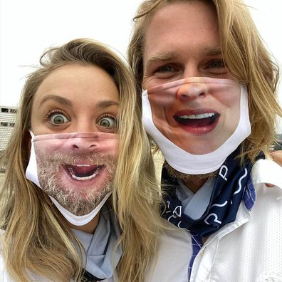 Kaley Cuoco, husband, Karl Cook, coronavirus mask, Instagram, photo