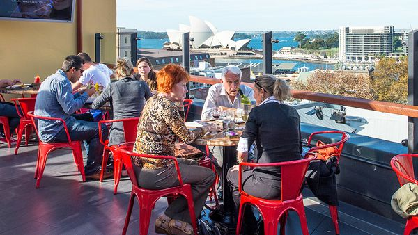 Rooftop dining at the Glenmore (supplied)