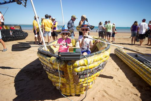 Beer Can Regatta in Darwin being accused of influencing alcohol harm in young people. Picture: Facebook