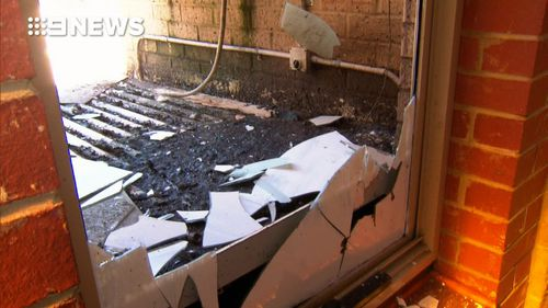 Thousands of dollars worth of damage has been caused. Picture: 9NEWS