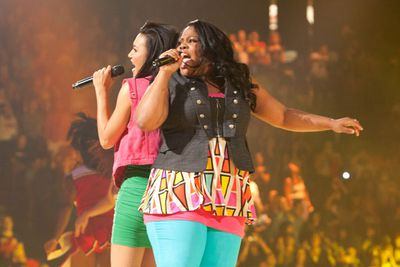 Naya Rivera (Santana) gets her sing on.