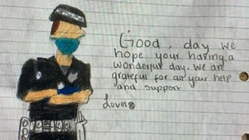 A police officer was delivered this note via a fishing rod in Flemington.