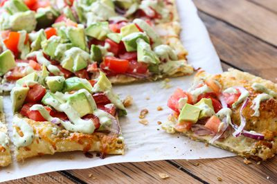<strong>Lunch: Avocado pizza</strong>