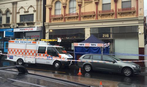 A handcuffed man has died in police custody at a bar in Melbourne's south-east.