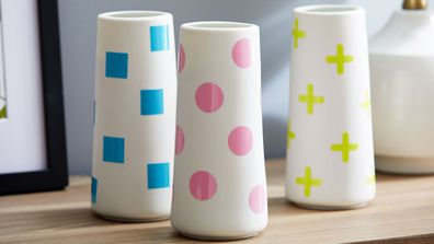 Cricut Joy project neon vases