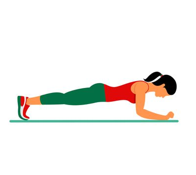 <strong>Plank (As many sets as it takes to get to 2 minutes)</strong>