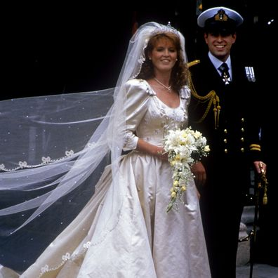 Prince Andrew and Sarah Ferguson 1986 wedding