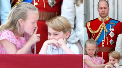 """Trooping the Colour: Savannah Phillips and Prince George<span style=""""white-space:pre;""""></span>"""