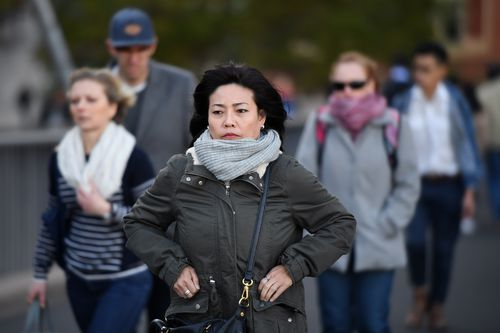 South Australia and Adelaide will be the first to feel the chilly conditions and strong winds, before they pass onto Tasmania, Victoria and New South Wales. Picture: AAP.