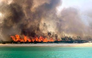 Four people charged over illegal campfire that sparked Fraser Island bushfire
