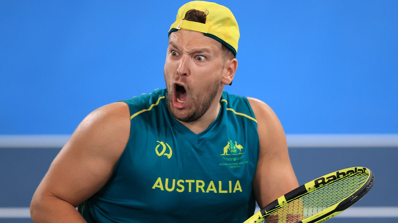 Dylan Alcott wins back-to-back Paralympic quad singles gold, drops announcement in emotional scenes