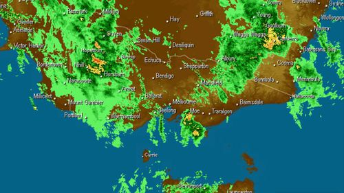 A trough moving ahead of a large cold front is expected to bring rain and freezing temperatures to much of southern Australia.