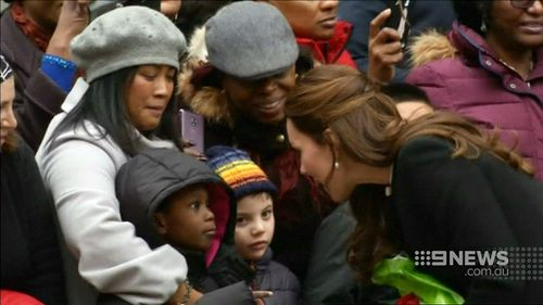 Her visit to Harlem was reminiscent of Princess Diana's visit two decades ago. (9NEWS)