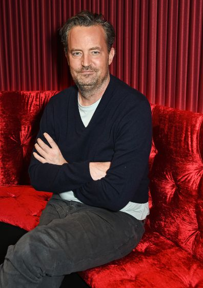 """Matthew Perry poses at a photocall for """"The End Of Longing"""", a new play which he wrote and stars in at The Playhouse Theatre, on February 8, 2016 in London, England."""