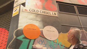 Adelaide laneway honours band Cold Chisel.