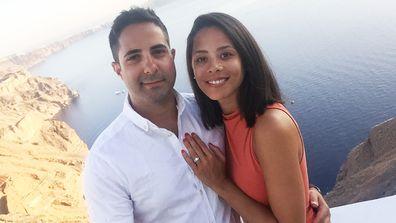 Over the moon: Elisa and her husband Steve fell pregnant on their honeymoon. Image: Elisa Mercuri
