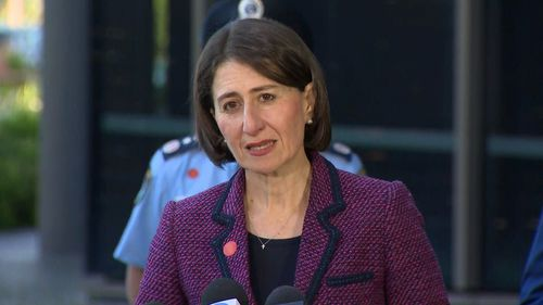 NSW Premier Gladys Berejiklian speaks with media during her morning COVID-19 briefing.