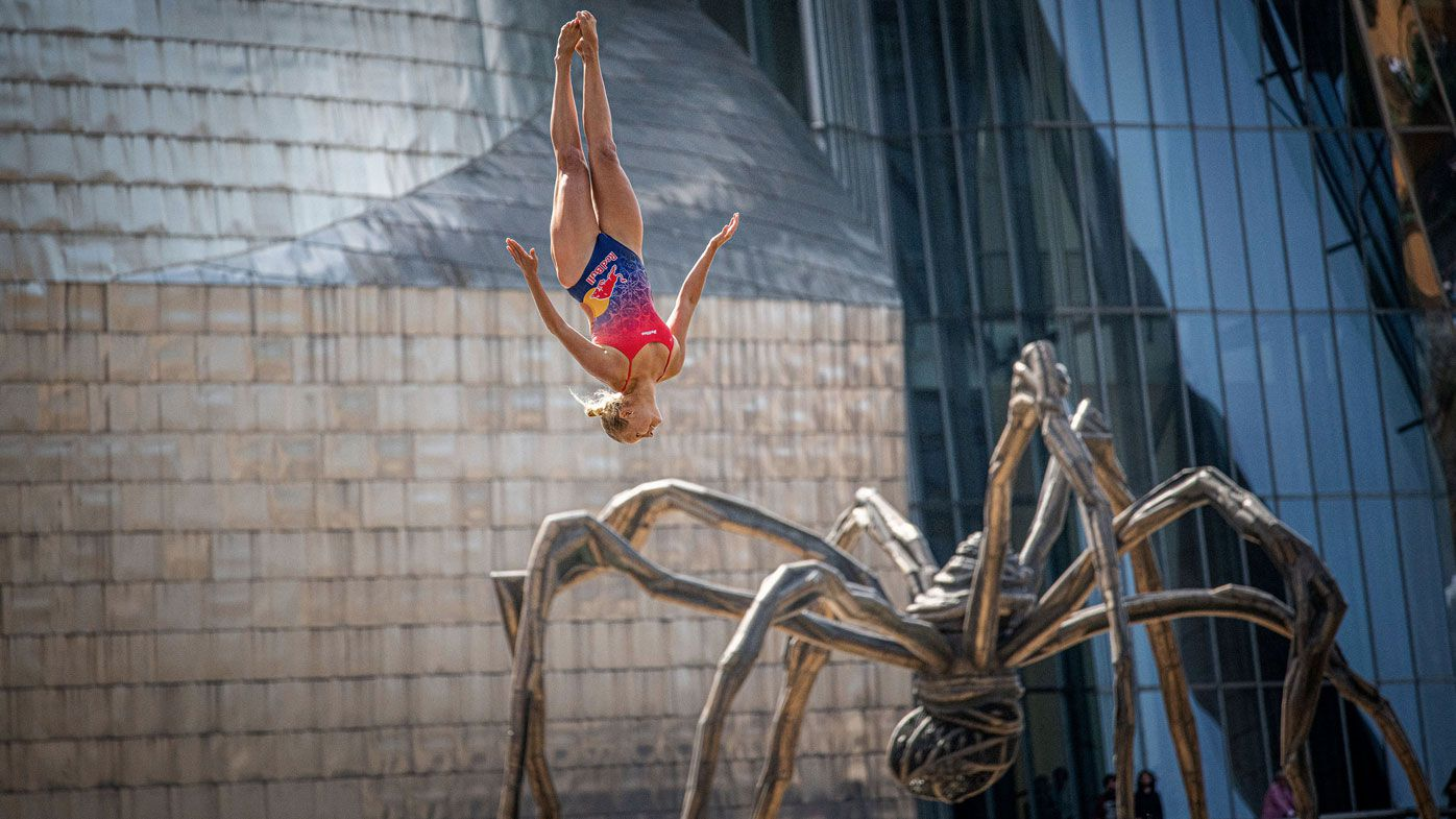 Australian Rhiannan Iffland on verge of 2019 Red Bull Cliff Diving World Series clean sweep