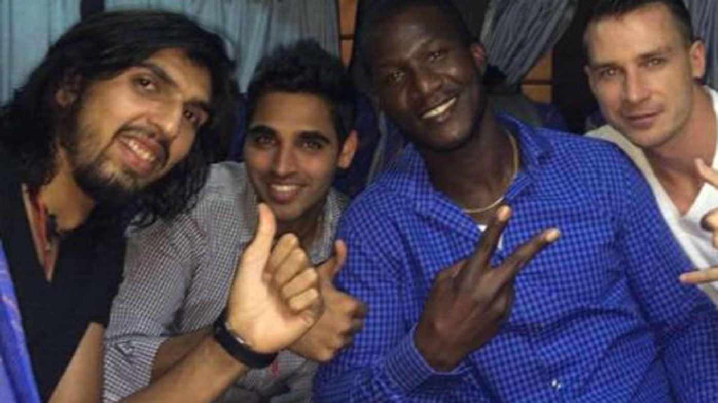 Ishant Sharma, Bhuvneshwar Kumar, Daren Sammy and Dale Steyn in 2014.