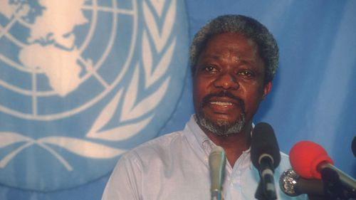 Annan became the first black leader of the diplomatic organisation