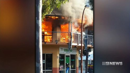 No animals or people were hurt in the blaze.