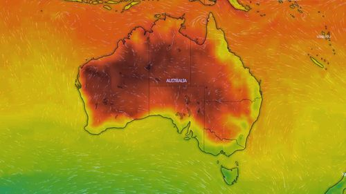 At midnight much of the country's interior is expected to remain very warm and dry.