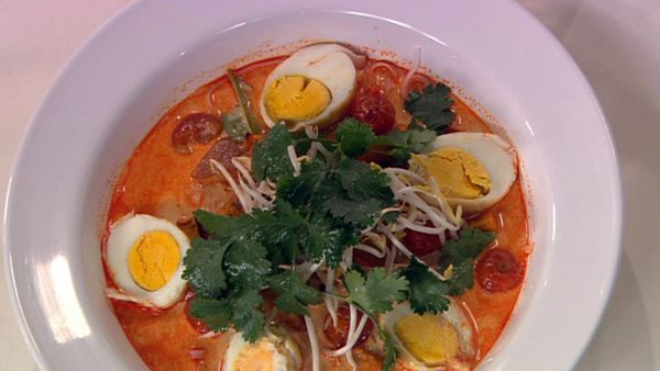 Roast pumpkin laksa