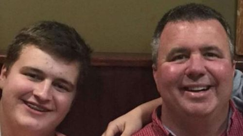 Sam Strahan (L) and his father. (GoFundMe)