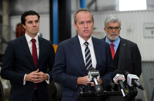 Mr Shorten had spent Anzac Day with military personnel in the Afghanistan capital Kabul and returned via a military base in Dubai before catching a flight home from the international airport.