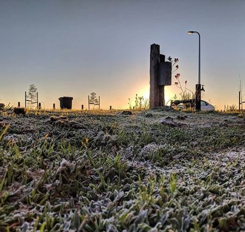 Parts of Victoria and New South Wales have shivered through their coldest August mornings in 21 years. It was a frosty start in Sunbury. (Instagram:mrjoelm)